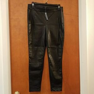 New with Tags Ann Taylor Faux Leather Leggings 6P
